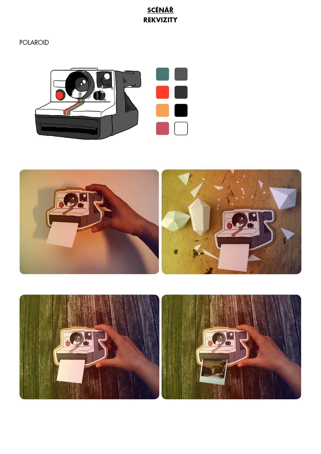 Náhled papírové kulisy / polaroid