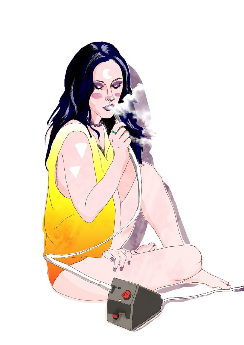 Vapo gril / digitální ilustrace