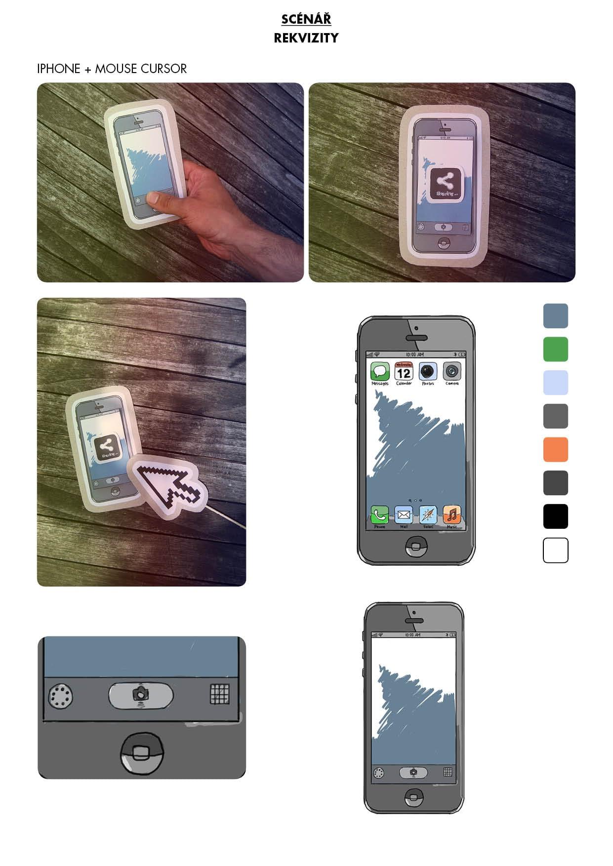Náhled papírové kulisy / mobil